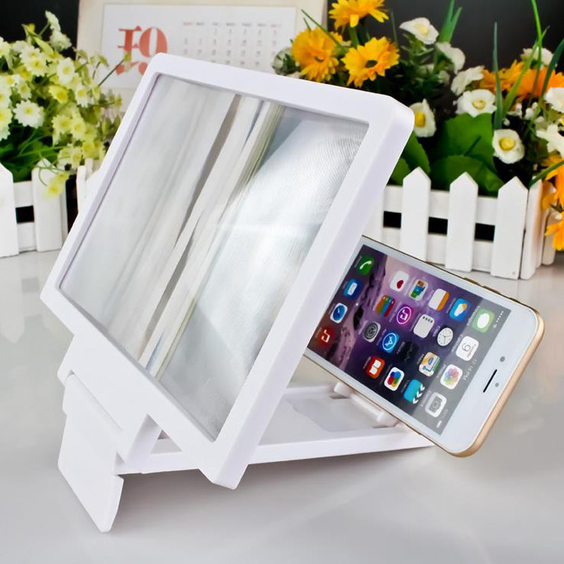 3D Video Screen Folding Phone Stand Screen Magnifier Eyes Protection Mobile Phone Holder