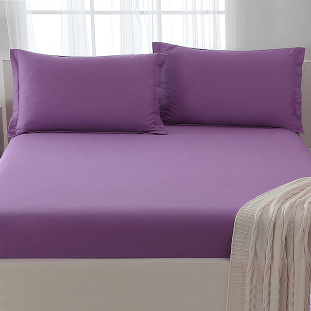 king size fitted sheet Solid Color Plain Single/Twin/Full/Queen/King Size Fitted Sheet  king size fitted sheet