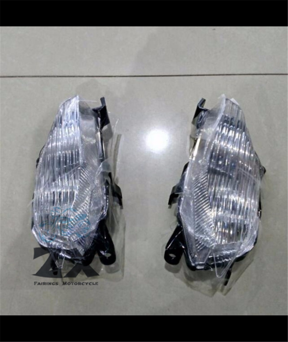 A pair Clear  behind Turn Signals Light Rear Turn Signals Rear Right and Left For Ya maha T-MAX TMAX 530 2012-2015 TMAX530 billet rear hub carriers for losi 5ive t