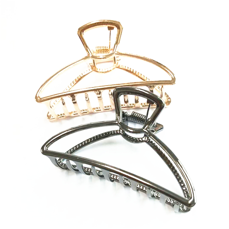 Fashion Woman Hair Accessories Jewelry Triangle Hair Clip Pin Metal Geometric Alloy Crab Clip Hairgrip Barrette Girls Holder in Hair Jewelry from Jewelry Accessories