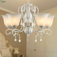 2015 Top Sales In Russia Europe Pastoral Elegant Resin Crystal Pendant Chandelier Warm Royal Led Frosted