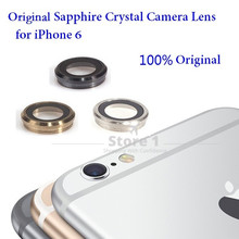 100% Original for Apple iPhone 6 Camera Lens; Sapphire Crystal Back Camera Glass Lens with Frame for iPhone 6 4.7 inch