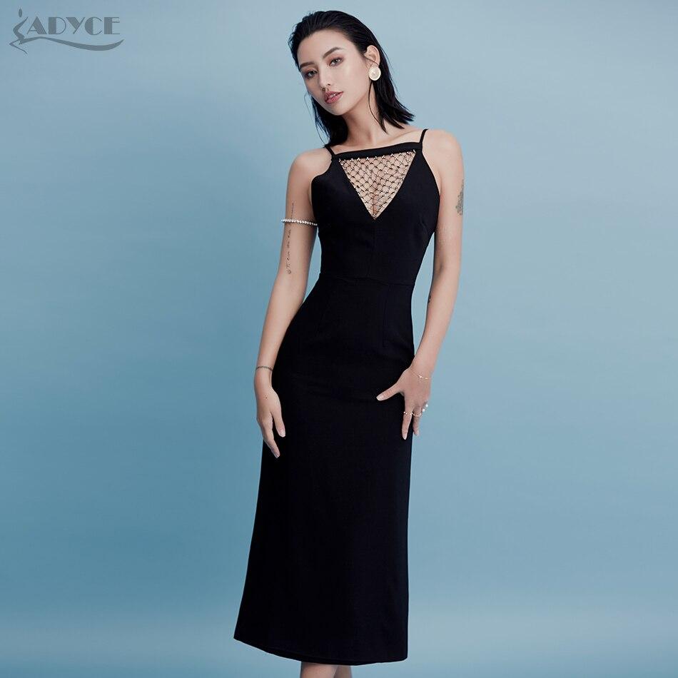 Adyce 2018 New Arrival Summer Women Dress Black Women Strapless V ...