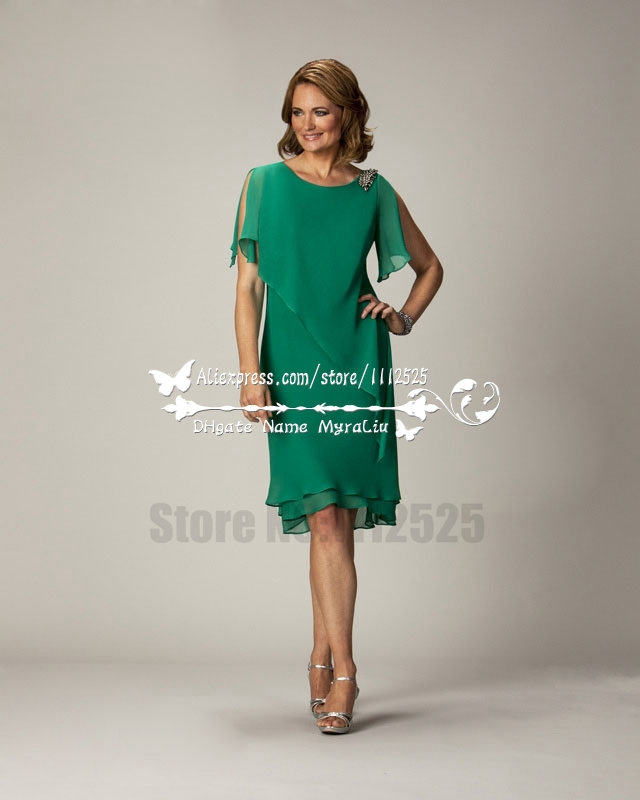 Amd 3010 Elegante Madre De La Novia Vestido Verde De Gasa