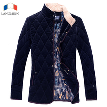 Фотография Langmeng 2017 New Winter Jacket Men Coat Outwear Warm Formal Suits Fashion Mens Brand Clothing Corduroy Outwear Hot Selling