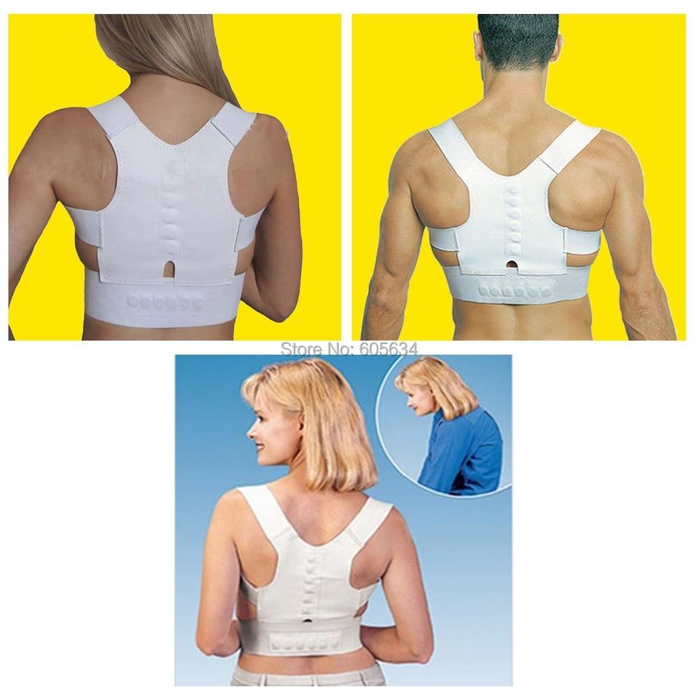 Chaves e apoio postura magnética Corrector corpo Back Pain Belt Brace banda postura ombro ajustável de saúde homens mulheres