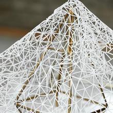 49 43 cm Branco ilusão de espaço tridimensional textura oca tecido pirâmide  jóias patch prom tweed tecido do lenço da listra a01. 6e0e0493b9dd