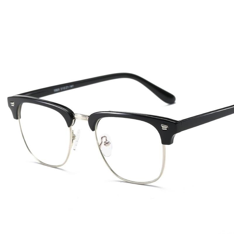 Obdélník TR90 Anti Blue Ray Clear Lens Brýlové čočky Ochrana brýlí Oční brýle Titanové brýle Brýle Rám Počítačové brýle pro ženy Muži
