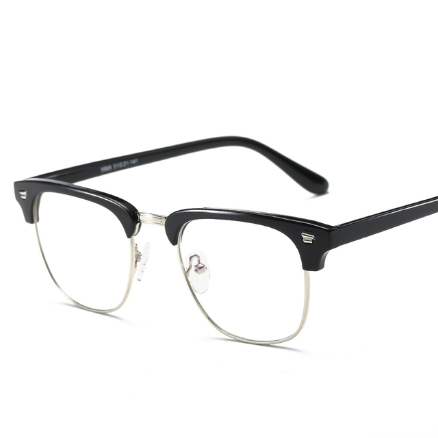 02d6b795d2 Rectangle TR90 Anti Blue Ray Clear Lens EyeGlasses Protection Eyewear  Titanium Eye Glasses Frame Computer Glasses