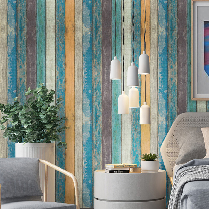 Modern Vintage Wood Self Adhesive Wallpapers for Living Room Furniture Bedroom Wals Waterproof Vinyl Roll Wall contact-paper self adhesive waterproof pvc wallpapers roll morden wall paper bedroom living room furniture renovation sticker home decor