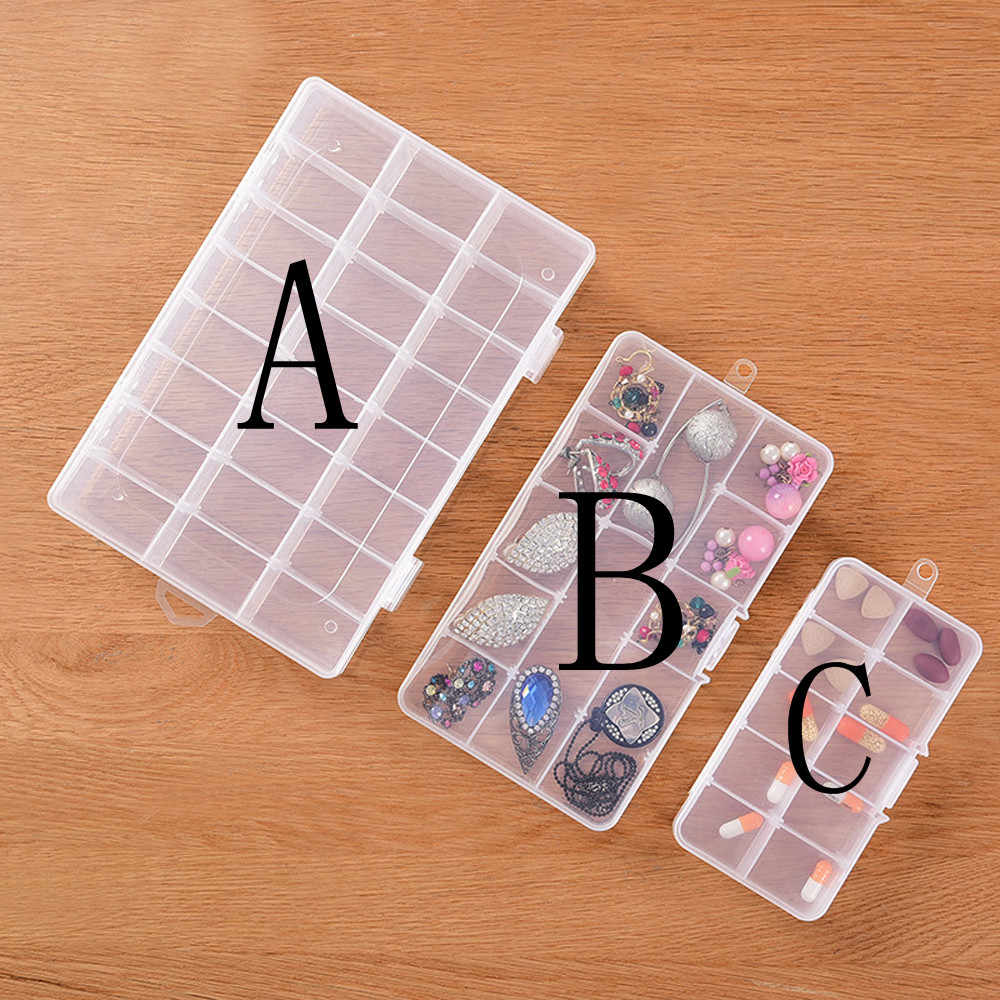 Hot Selling Empty Storage Container Box Case For Nail Art Tips Rhinestone Gems Housekeeping Makeup Organizer Cosmetic Container