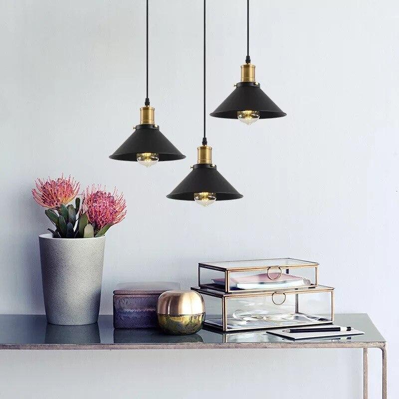 Nordique fer art cristal abat-jour AC 220 V rétro moderne LED lustre simple lisse E27 base intérieur salon lampe cuisine