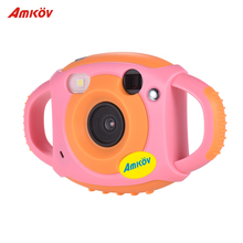 Amkov Cute Digital Video Camera Max. 5 Mega Pixels Built-in Lithium Battery Gift New Year Present for Kids Children Boys Girls(China)
