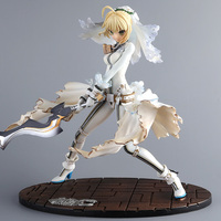 23cm Anime Fate/stay Night Gsc Extra Ccc White Dress Saber Bride Action Figure Model Collection Fate Night Girl Figure 2019 New