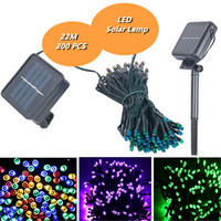 2PCS Set Solar Lamps String 22M 200 LED Fairy String Lights Solar Power Outdoor Lighting Waterproof