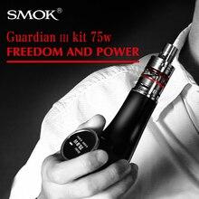 บุหรี่อิเล็กทรอนิกส์SMOK Vapeการ์เดียน3ชุดกล่องVaporizerสมัย75วัตต์ท่อมอระกู่อิเล็กทรอนิกส์สมัยกล่องที่มีไมโครTFV4 X9088