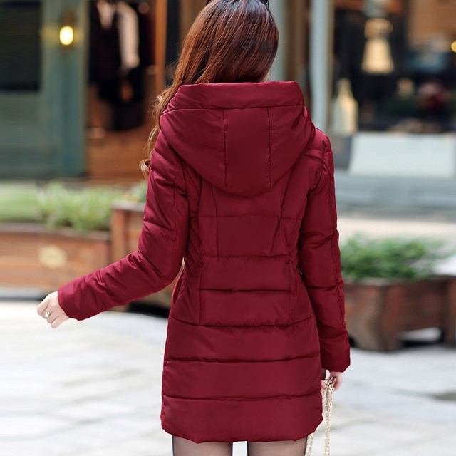 ZOGAA 2018 Women Parkas Winter Female Warm Thicken Middle-Long Slim Hooded Jackets Coat Outwear Parkas Jacket M-3XL 1