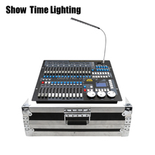 Hot sale DMX 512 Controller with flycase 1024 channel Stage light DMX Master console flight box control led par beam moving head free shipping hot sale 2 4g wireless dmx 512 mini receiver signal stability led dmx controller disco lights dmx