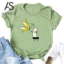 Kobiety bawełniana koszulka nadrukowane litery T koszula śliczne tshirt Plus rozmiar 3XL 5XL letnie bluzki 2019 koszulki z krótkim rękawem kobiece tuniki tanie tanio ANSELF COTTON NONE Topy Suknem Na co dzień Tees Drukuj REGULAR Women Summer T-Shirt O-neck