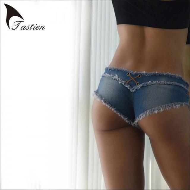 Das Mulheres Calças de Brim TASTIEN Jenim Shorts Calças Moda Verão Puro Algodão Super Sexy Shorts Senhoras Jeans Skinny Super Calças Curtas Meninas