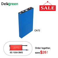 Deep cycle Life L135F72 LEF CALB Batteries 24V 72ah With 8S 24V 100ABMS for UPS storage Systerm EV Motor With Element included