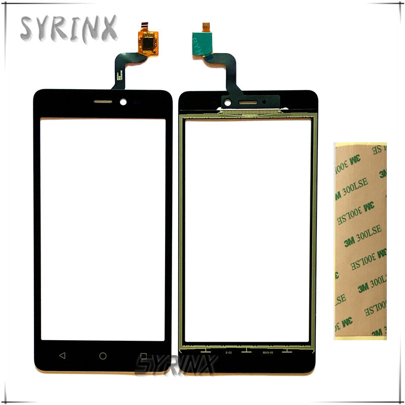 Syrinx + Tape Touch Panel Front Glass Sensor Touchscreen For BQ BQS-5025 BQS 5025 HighWay Touch Screen Digitizer Touchpad