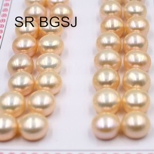 Image 2 - Free Shipping  10 11mm  16Pairs Half Hole Drilled Pearl Beads Super Luster Natural Freshwater Pearl Loose Beads