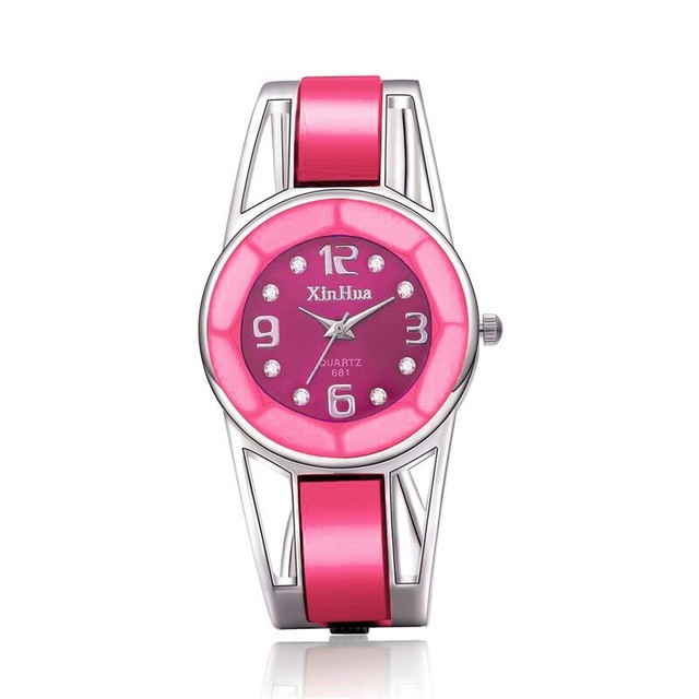 Hot Sale Fashion Bracelet Watch Luxury Rhinestone Wristwatch Women Watches Lady