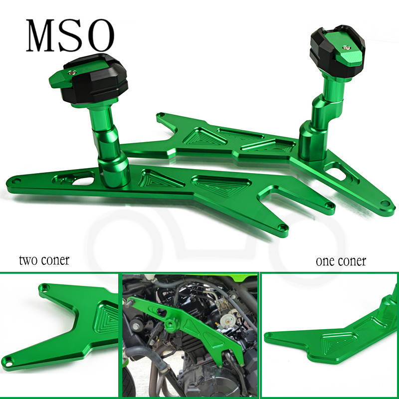 Motorcycle Frame Slider Fairing Guard Falling Protector Engine CNC Crash Pads For Kawasaki Ninja 300 Ninja 300 2013 2014 2015 16 motorcycle racing crash pads fairing frame protectors slider fit for 2005 2006 kawasaki ninja zx6r zx6 r