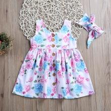 цены на Princess Adorable Toddler Kids Baby Girls Party Floral Dress Pageant Sundress Summer Party Wedding Birthday Dress Clothing  в интернет-магазинах