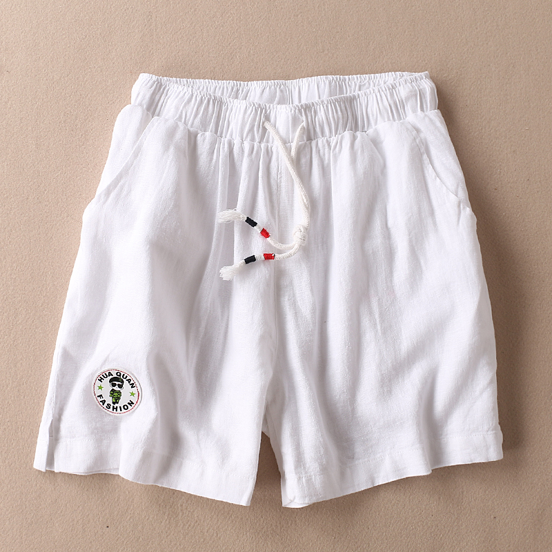 Leisure Stickers Stripes Drawstring Cotton Loose Leg Pants Female Side Slit Hot Mesh Shorts Witte Camouflage Jeans Spice Girls