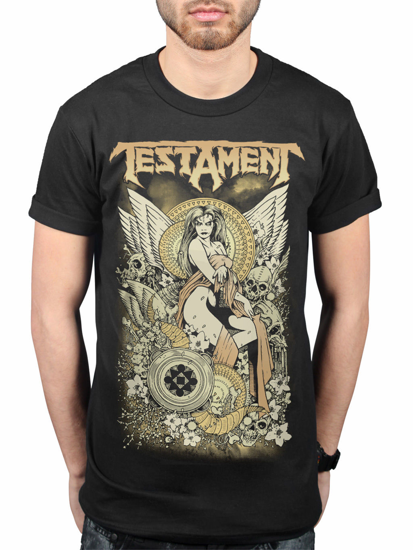 TESTAMENTO MAIDEN T-SHIRT trash metal FASCIA ROCK VENTAGLIO Merchandise