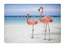 Floor Mat Summer Style Tropical Beach Sea Flamingos Bird Print Non-slip Rugs Carpets alfombra For Indoor Outdoor Living Room