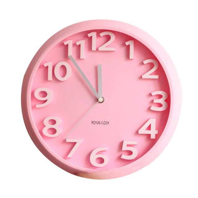 Household Decor Hanging Wall Clock Digital Wall Clock PlasticFashion ...