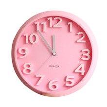 Household Decor Hanging Wall Clock Digital Wall Clock PlasticFashion Gift Quartz Clock Colorful LivingRoom Decor Clock.