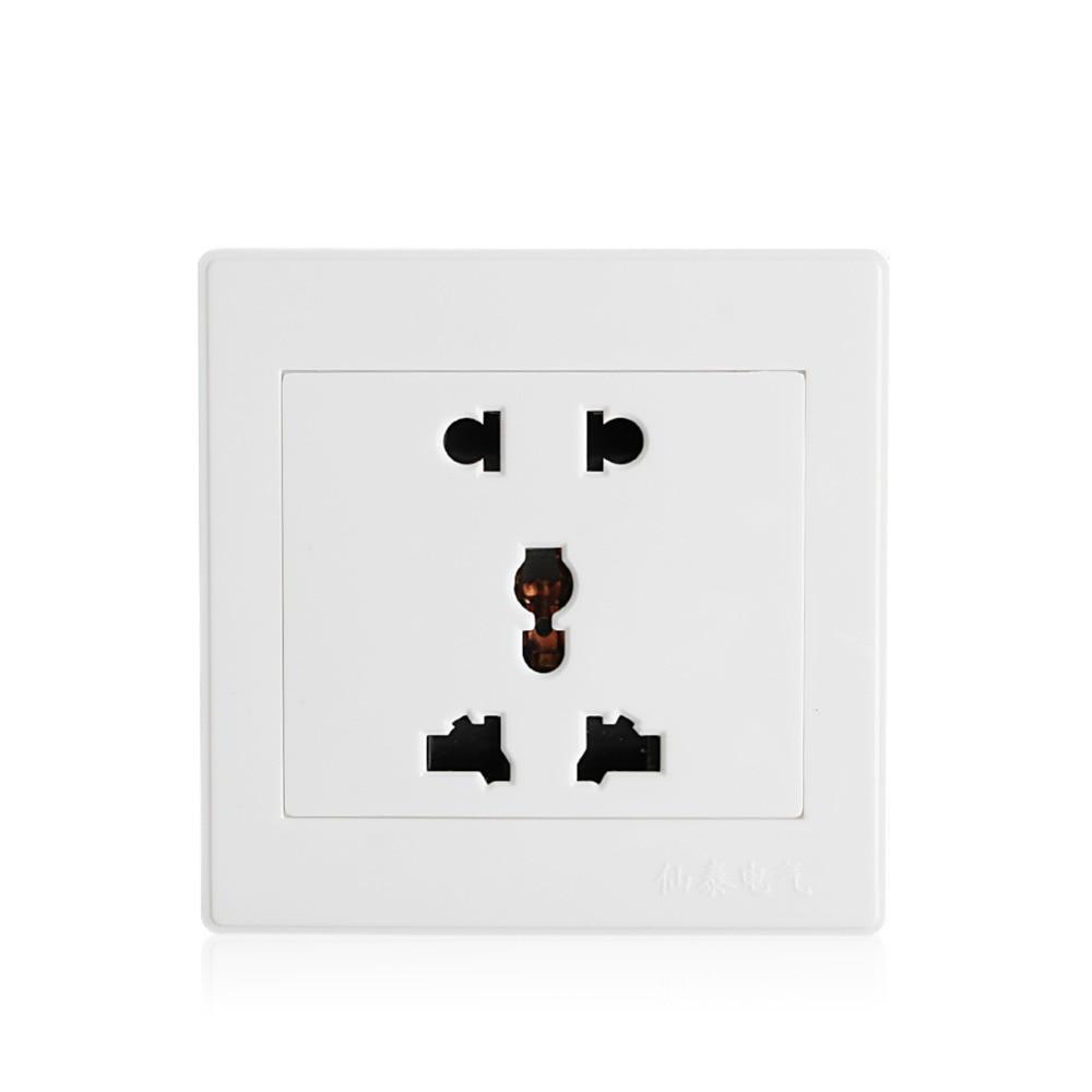 Универсальный 5 отверстие электрический AC Мощность Outlet Панель Тарелка настенная Зарядное устройство док разъем