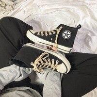 Новые холстовая Мужская обувь модные высокие увеличивающие рост туфли комфортные дышащие мужские вулканизированные туфли Нескользящие на...