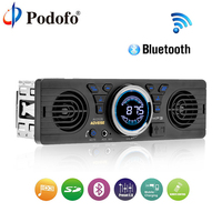 Podofo Bluetooth Car Radio Stereo FM MP3 Audio Player 5V Charger USB SD AUX Auto Electronics Subwoofer In Dash 1 DIN Autoradio