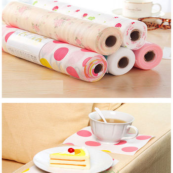 300X30CM Polka Dots Shelf Contact Paper Cabinet Drawer Liner Kitchen Table Mat image