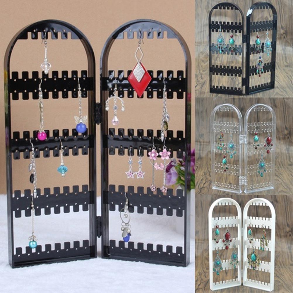 120 Holes Folding Earring Holder Organizer Screen Jewelry Display Storage Rack Earring Holder Earrings Earrings Necklace Jewelry