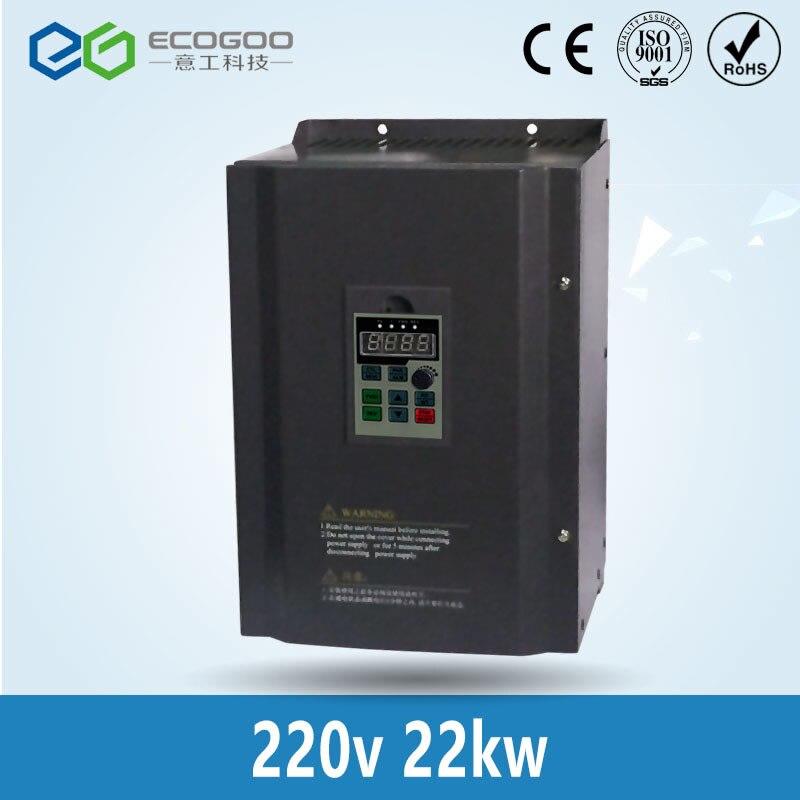 Caldo! 22KW 30HP 400 HZ Inverter VFD convertitore di Frequenza monofase 220 v uscita ingresso 3 fase 380 v 46A per 25HP motore