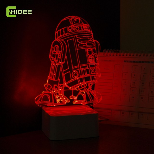 star wars lamp 3d visual led night lights for kids robot r2 d2 touch usb table lampara as besides lampe baby sleeping nightlight