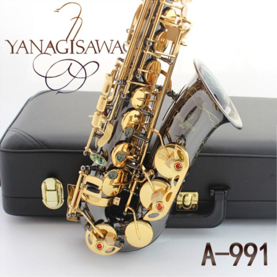 Alto saxophone YANAGISAWA Musical instrument New A-991 Sax E flat Black Nickel Gold Saxophone With Case Professional Free alto saxophone 54 eb flat alto sax top musical instrument sax wear resistant black nickel plated gold process sax
