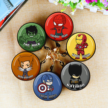 Q version Avengers Coin Purse Iron Man Hulk Captain America Key Case Wallet Children Thanos Headset Bag Coin Bag For Marvel spot sell q version of captain america avengers hulk q edition boxed high quality pvc dolls child toys 2pcs set free shipping