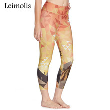 3D Sunset Eagle Design Beach Leggings