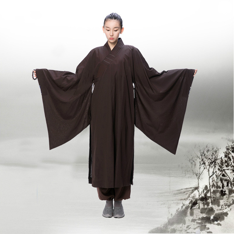 meditation zen shaolin hanfu chinese traditional clothings for monk costume buddhist clothing monk robe taoism tibetan clothes Одежда