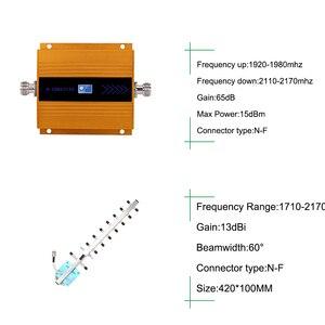 Image 4 - 65dBリピータ3グラムwcdma信号ブースター3グラムumts 2100携帯携帯信号リピータアンプ3グラムamplifiアンテナlcdディスプレイ