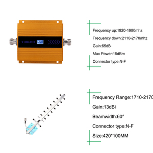 Image 4 - 65dB Repeater 3G Wcdma Signaal Booster 3G Umts 2100 Mobiele Signaal Repeater Versterker 3G Amplifi Antenne lcd Display