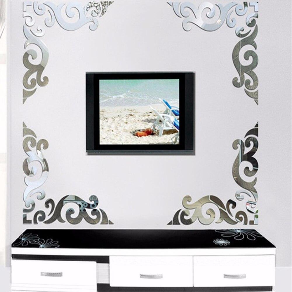 Popular Mirror Art Wall Decor-Buy Cheap Mirror Art Wall ...