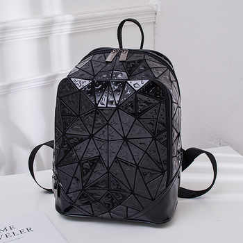 Luminous Geometric Sequin Laser Backpack Female Laptop Backpack Book Bag School Casual Rucksack Travel Daypack Women Backpack
